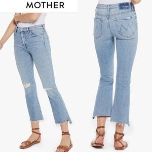 MOTHER SUPERIOR JEANS The Insider Crop Step Fray